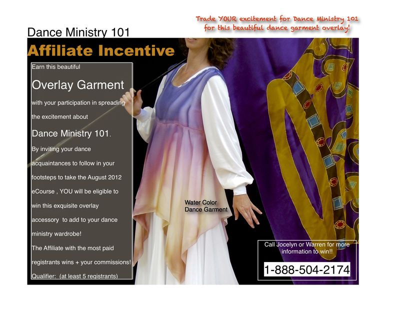 Affiliate Incentive for Dance Ministry 101